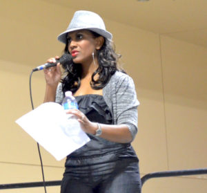 Photo of Tina Tilton hosting Memphis Hip Hop Expo