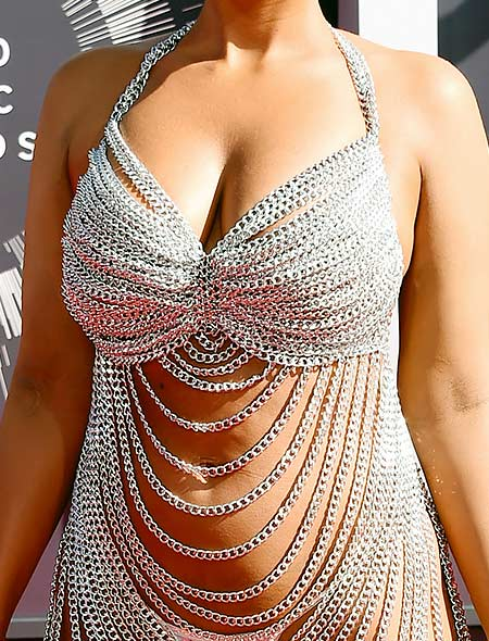 Amber Rose 2014 MTV VMA chain dress outfit
