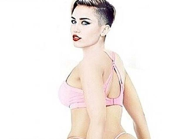Miley Cyrus Anaconda photo