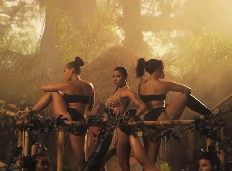 Nicki Minaj Anaconda music video Baby Got Back