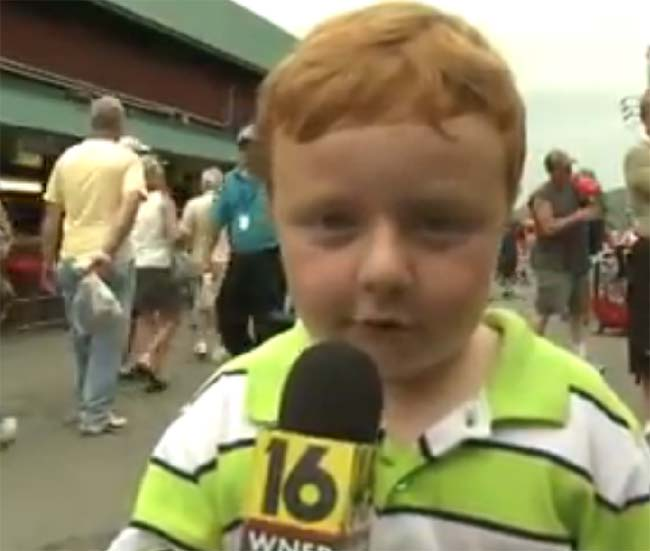 Noah Ritter 5 apparently wants to be a reporter