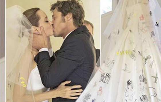 One of Angelina Jolie's Wedding Dress Pictures Shows ...