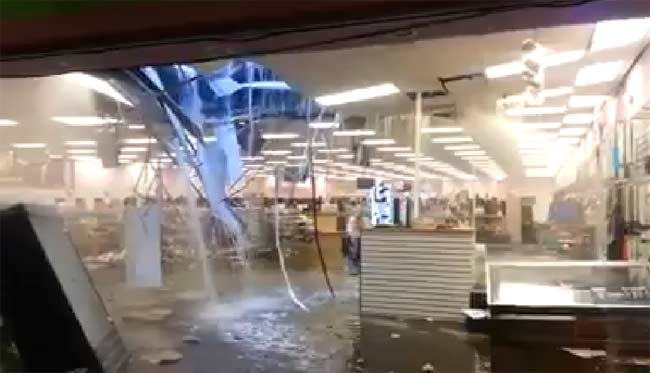 Southland Mall Memphis rain damage September 2014