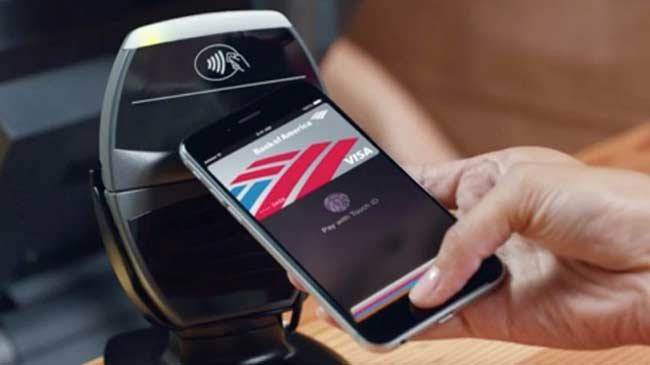 Apple Pay finger print payment on iPhone 6