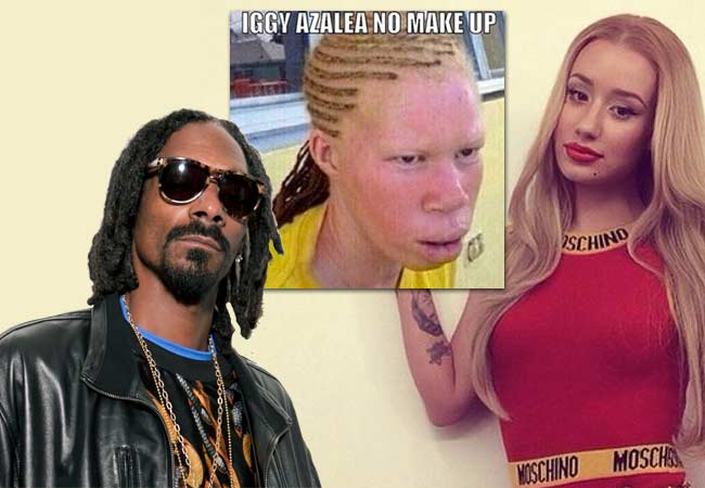 Iggy Azalea no makeup Snoop Dogg