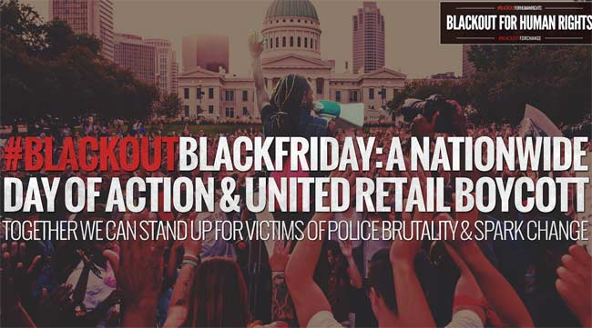 Black Out Black Friday protestors