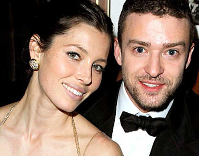 Justin Timberlake and wife Jessica Biel