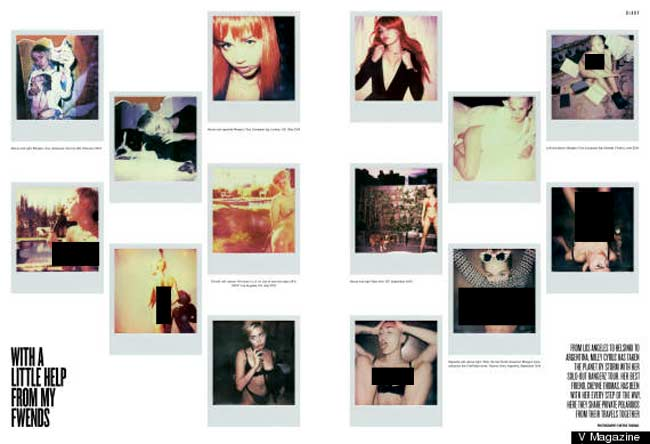 Miley Cyrus Polaroid V Magazine