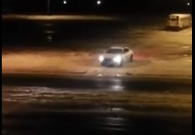 Memphis police doing donuts