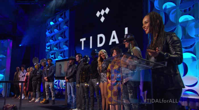 Tidal Music Press Conference co-owners