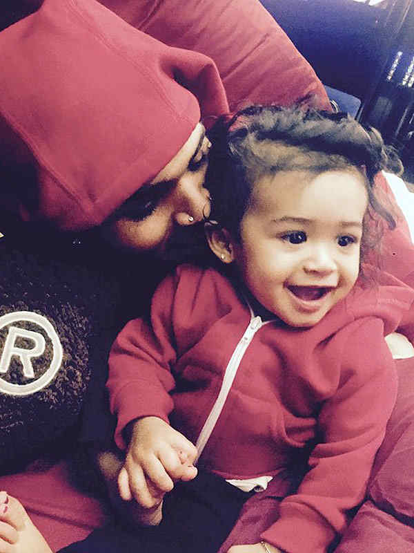 Chris Brown and baby daughter Royalty