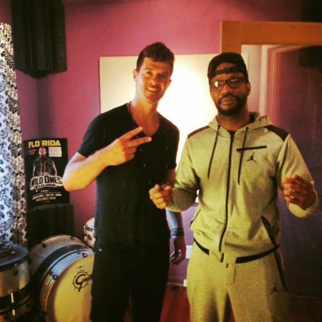 Juicy J Robin Thicke recording