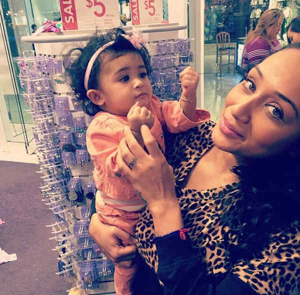 Nia Guzman and baby Royalty Chris Brown daughter