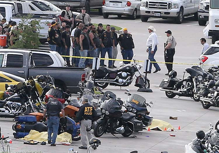 biker gang shootout waco