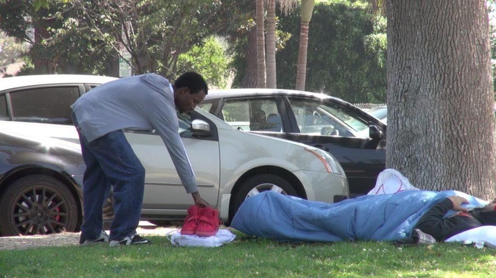 When People See a Pair of $5,000 Yeezys Next To A Homeless Guy, Watch What They Do!