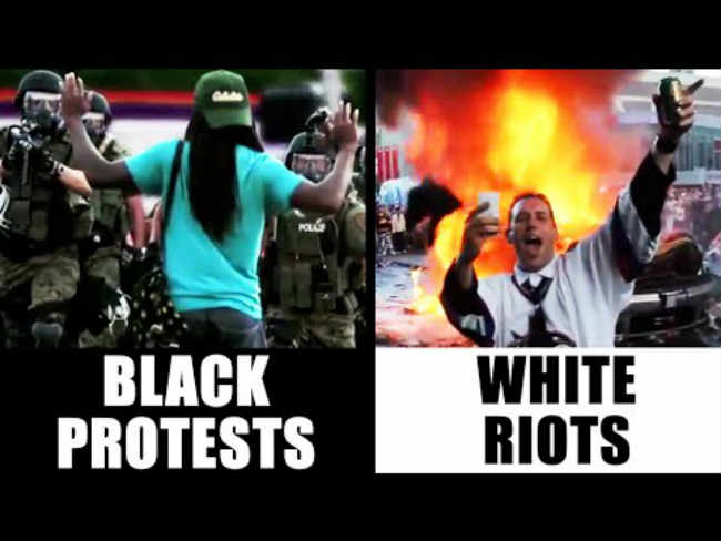 Black protests vs White riots