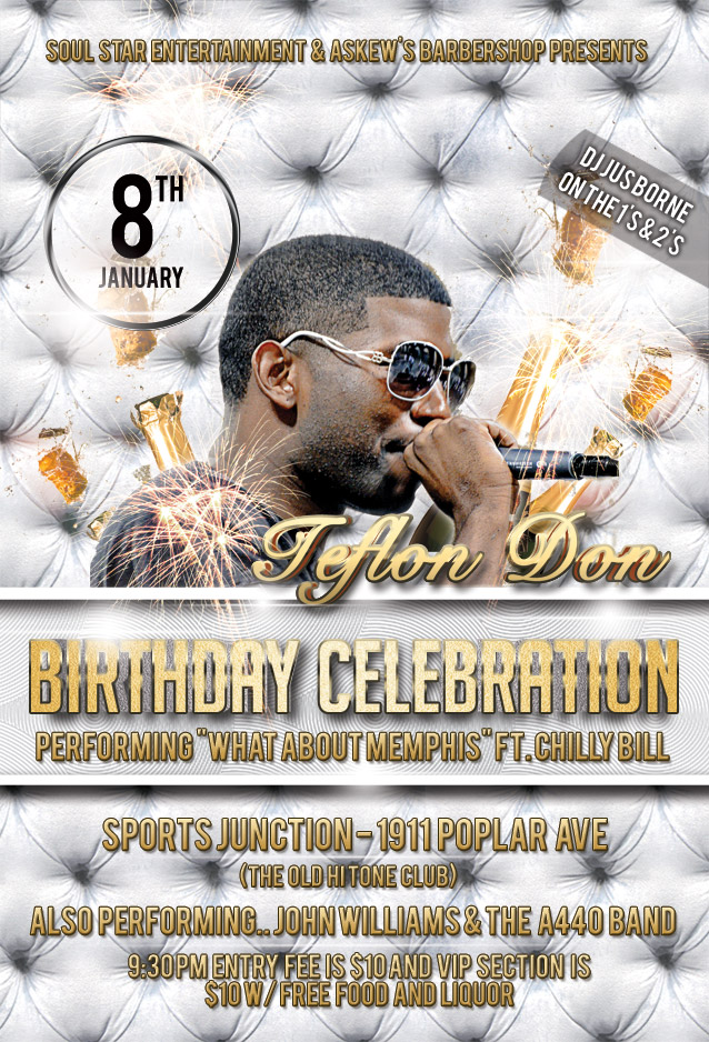 Teflon Don Birthday Party Celebration and Live Performance