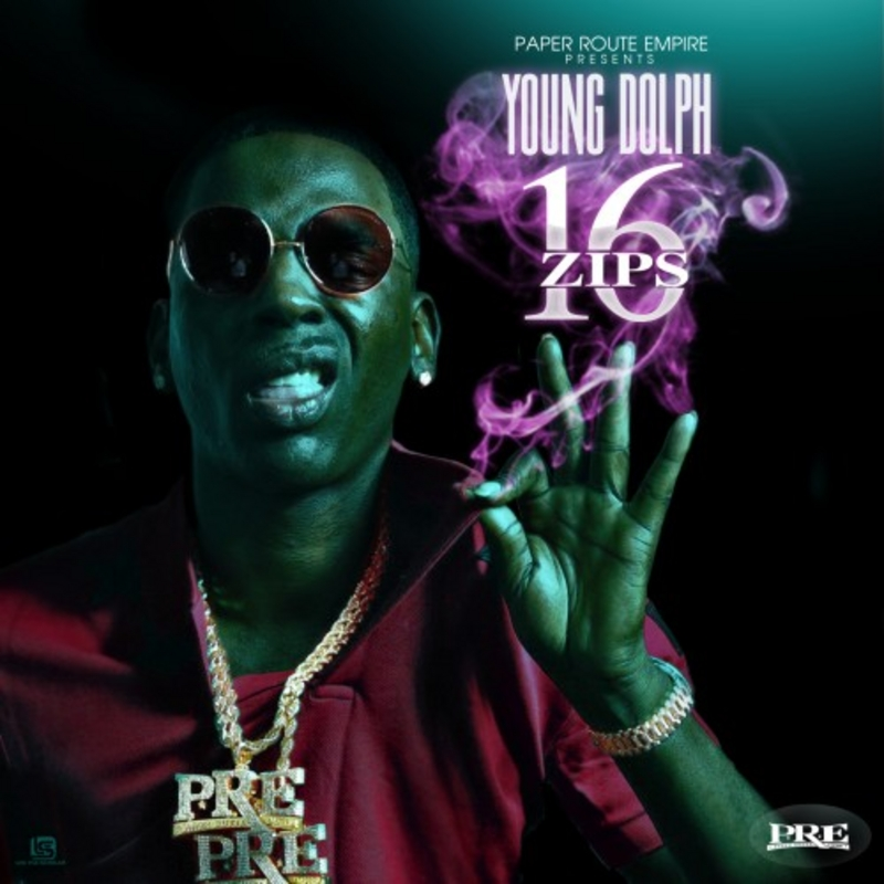Young Dolph 16 Zips mixtape cover