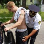 Man with Saggy Pants being searched by police