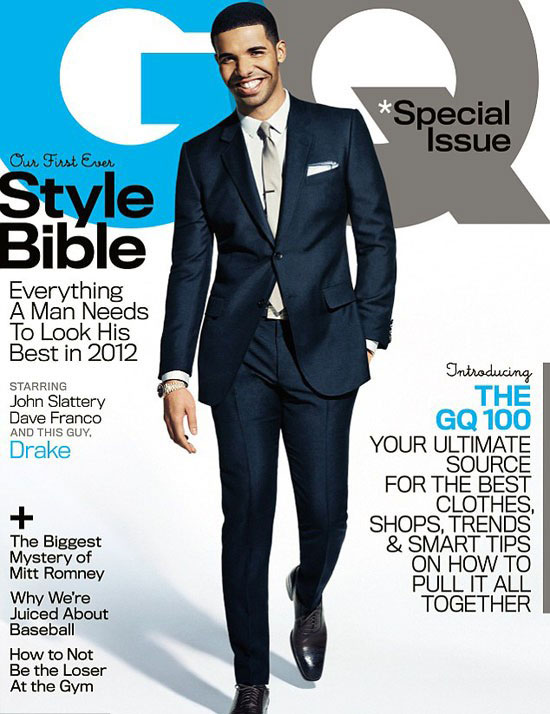 Drake GQ Magazine cover - Style Bible - April 2012 issue