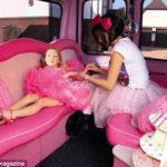 PHOTO: 7 yr-old Poppy Burge plastic pamper party