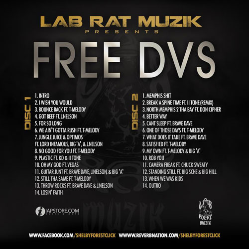 Mack DVS - FREE DVS Mixtape back cover art
