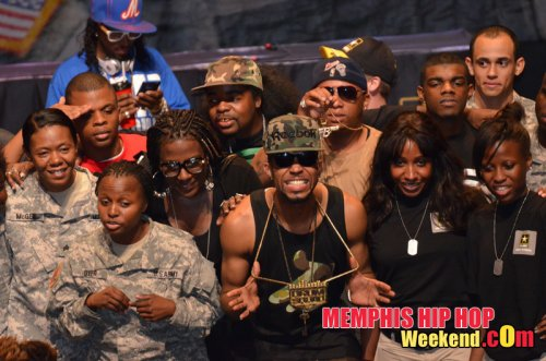 Photo of Drumma Boy on stage at Army Strong event