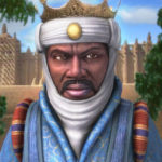 Artist picture impression of Mansa Musa, richest man from Africa