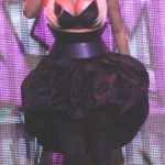 Picture of Nicki Minaj showing pasties over nipples during performance