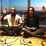 Photo of Frank Ocean and boyfriend Willy Cartier meditating?