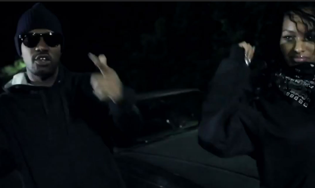 Photo of Juicy J and Lola Monroe in music video Ride Wit Em