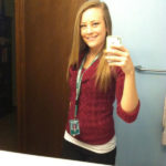 Photo of Teacher Carly McKinney aka Crunk Bear mirror pictures