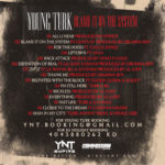 Turk Blame It On The System mixtape cover back