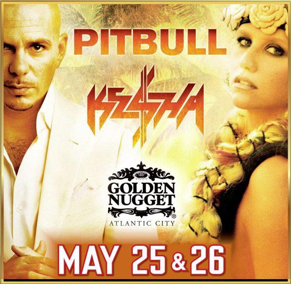 Ke$ha and Pitbull at the Golden Nugget Casino and Hotel