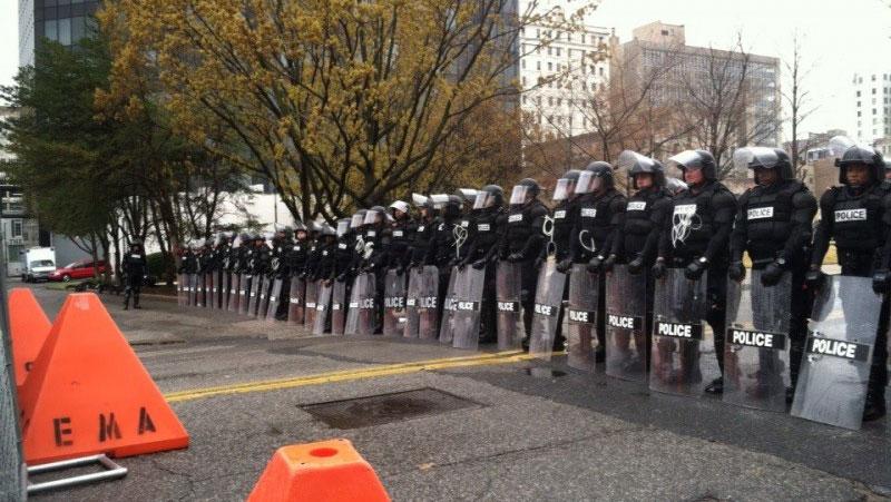 KKK Rally Memphis police