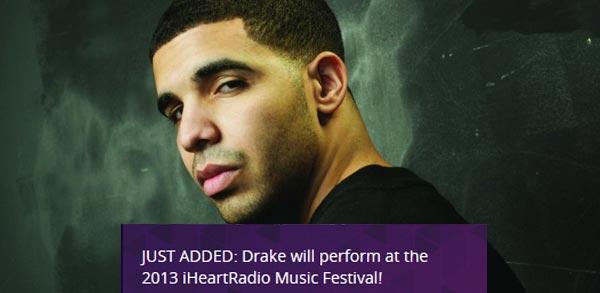 Drake at iHeartRadio Festival 2013
