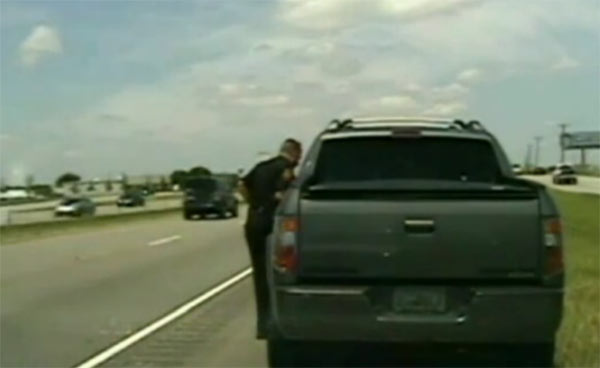 George Zimmerman pulled over for speeding in Texas