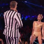 Miley Cyrus and Robin Thicke Blurred Lines