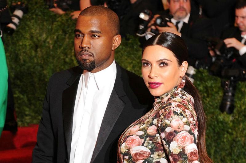 Photo of Kanye and Kim