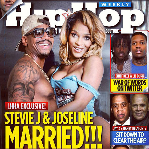 Photo of Stevie J Joseline on Cover of Hip Hop Weekly Magazine