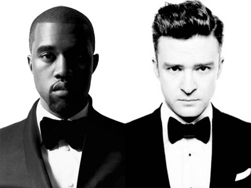 Kanye West and Justin Timberlake in Suit and Tie
