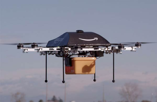 Amazon Prime Air Drone Delivers Packages