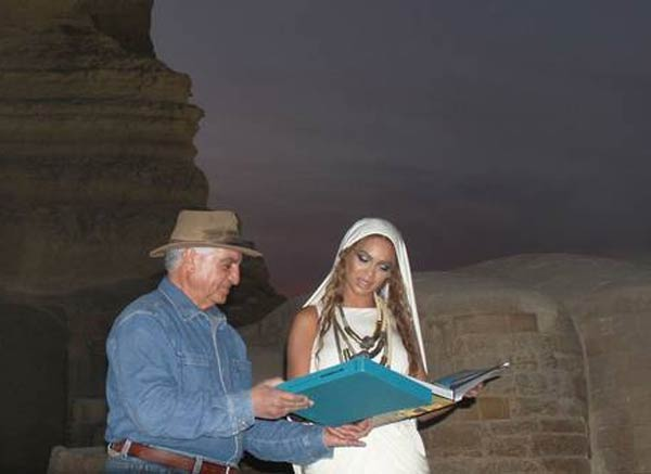 Beyonce and Zahi Hawass