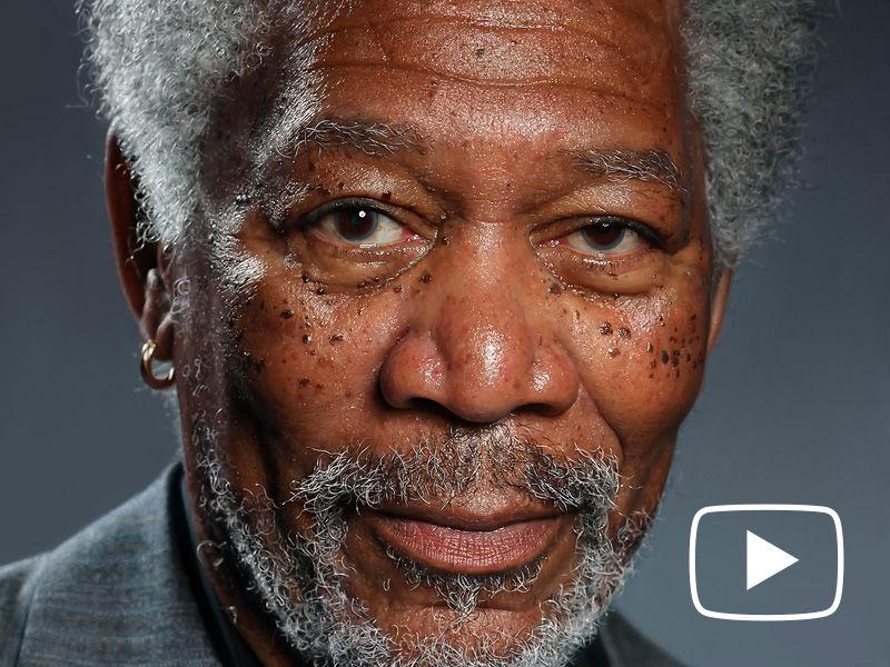 Morgan Freeman iPad Finger Painting Video