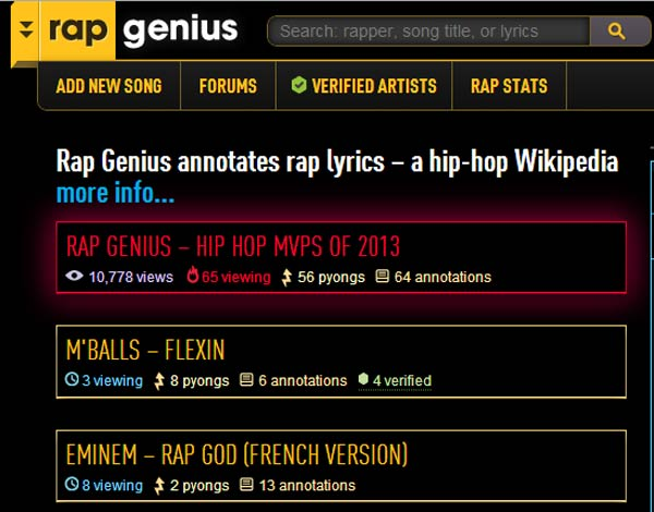 Rap Genius Lyrics site banished by Google for shady SEO tactics