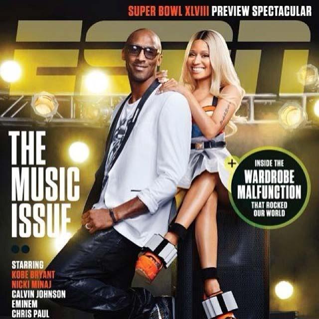 Nicki Minaj and Kobe Bryant - ESPN Music Issue
