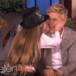 Kid Piano Prodigy Elias Phoenix squeezes Ellen DeGeneres cheeks