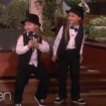 Elias and Zion raps Kanye West Gold Digger on Ellen DeGeneres