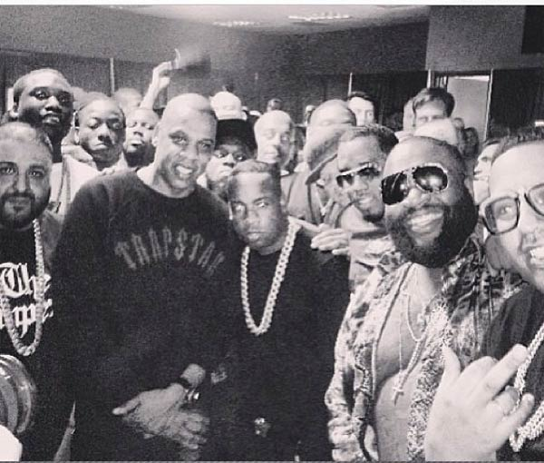 Yo Gotti in Jay-Z Power Circle joined by Diddy, DJ Khaled, Rick Ross and others.