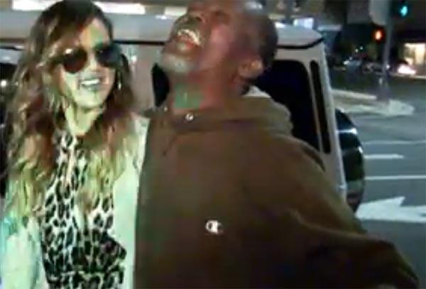 Khloe Kardashian and Homeless Guy Beverly Hills
